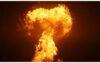 এবার কাস্পিয়ান সাগরে দাউ দাউ করে জ্বলছে আগুন (ভিডিও)